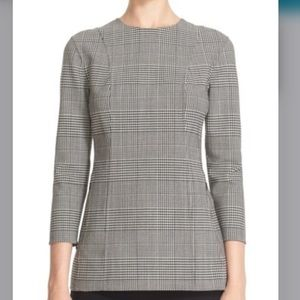 Theory Laurent Portland plaid stretch wool top sz4